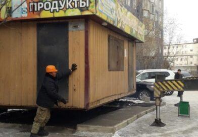 Неправомерно размещенное НТО демонтировали в Якутске